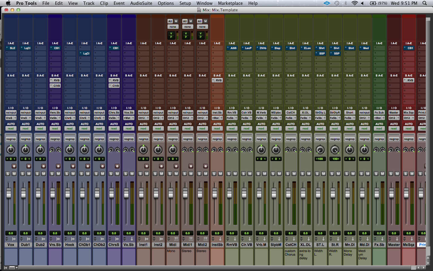 pro tools template